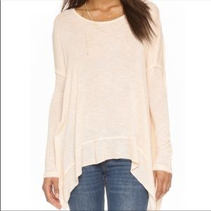 Free People White Shadow Hacci Open-Back Sweater